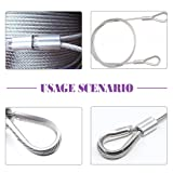 Swpeet 250Pcs 304 Stainless Steel Rope Cable