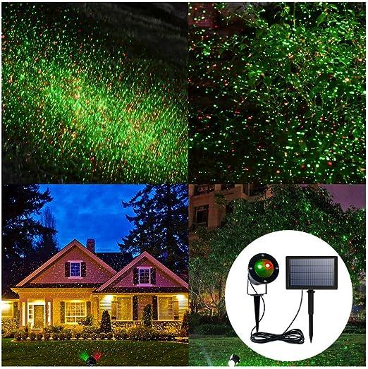 WRHN Solar Decoración Luces, Luces Solares Jardín LED Focos Exterior Impermeable Iluminación De Paisaje USB para Navidad, Fiesta, Luces De Proyector De Bodas: Amazon.es: Hogar