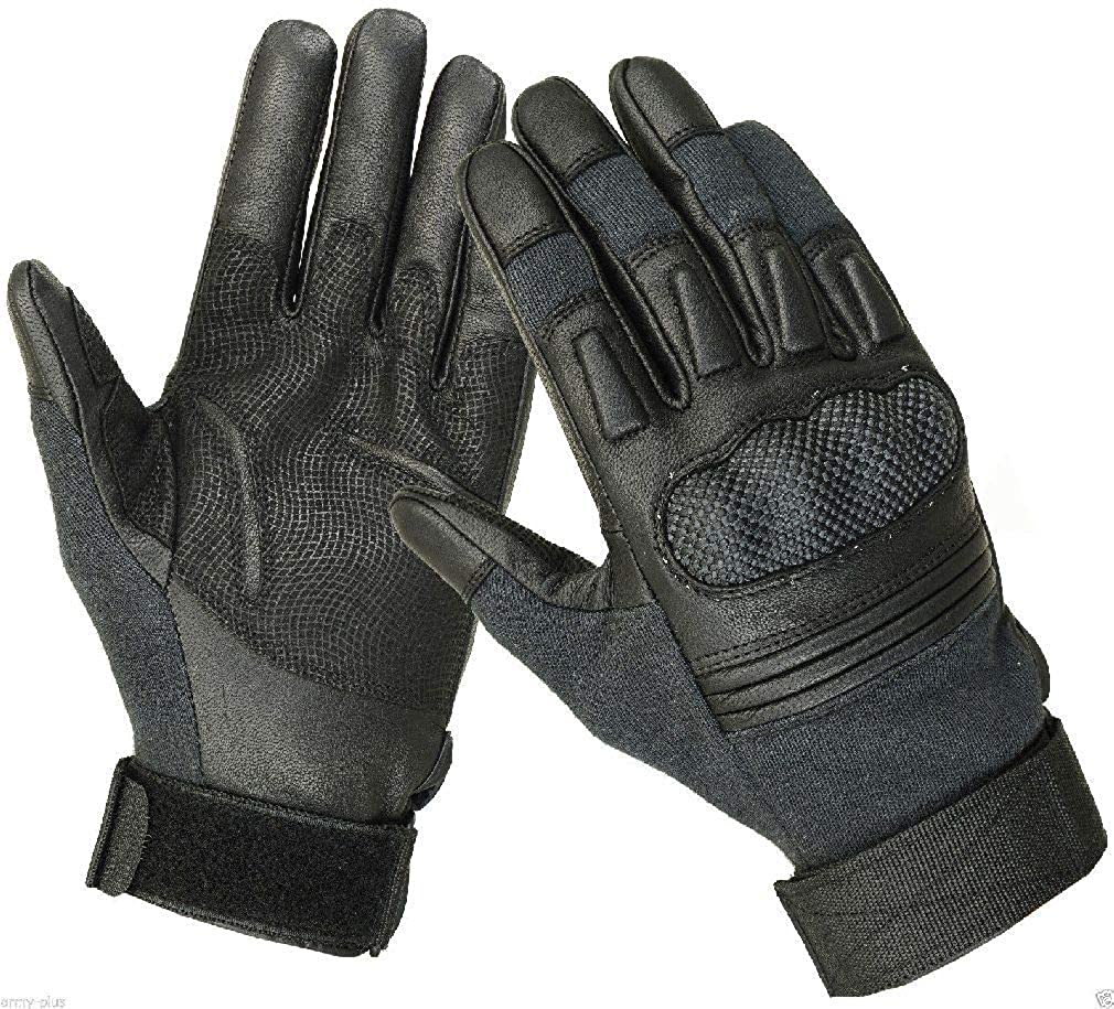 Military Police Tactical Combat Cut Resistant Hard Knuckle Gloves