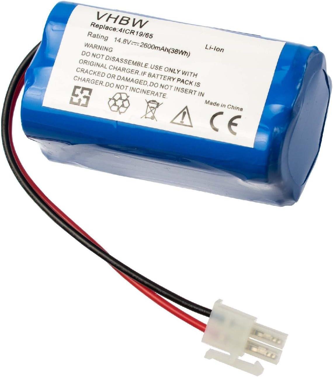 V7s Pro aspiradora V7s Plus vhbw Bater/ía compatible con iLife V7 robot de limpieza 2600mAh, 14.8V, Li-Ion