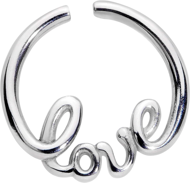 Amazon Com Body Candy Women 16g Steel Valentines Day Love Septum