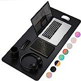 Almohadilla de computadora multifuncional para oficina, ultrafina e impermeable de piel sintética, alfombrilla de…
