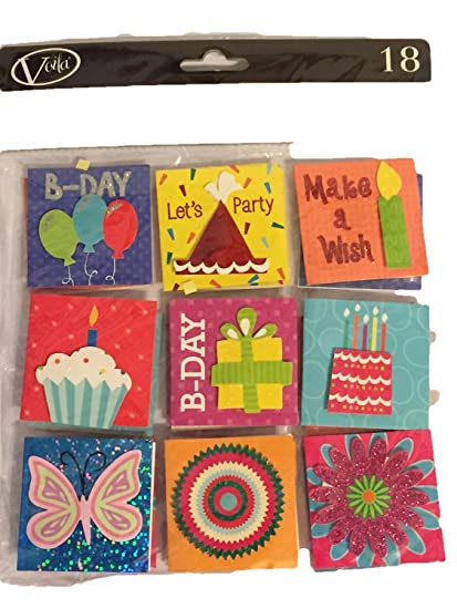 Amazon.com: Regalo de cumpleaños Etiquetas para Regalo – 18 ...