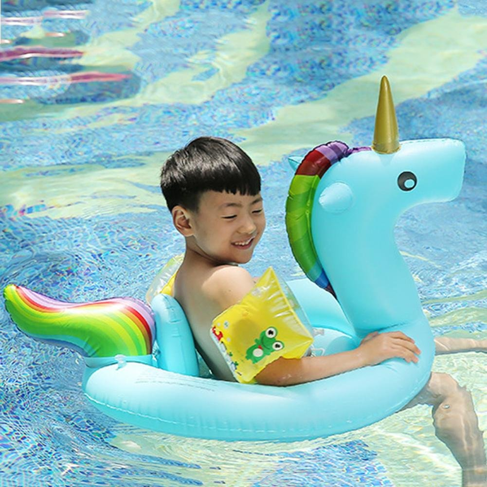 Amazon.com: Blueyouth Childrens PVC Swimming Ring Unicorn Seat Ring Overwater Inflatable Animal Shaped Seat Ring 3 Colors: Home Improvement
