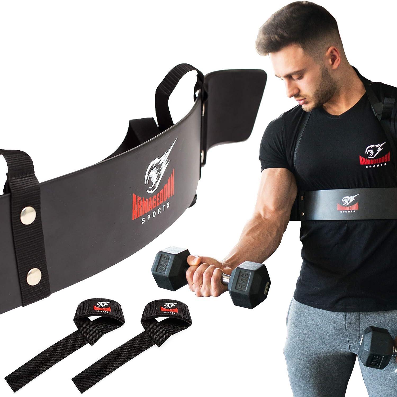 Heavy Duty Haltérophilie Bras Blaster Biceps Isolateur Gym Soutien Sangle Wraps