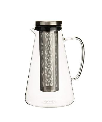 VAHDAM, jarra de té helado con tapa, 50.7 oz | 100% seguro, resistente a rayones, seguro para microondas y resistente al calor | Jarra de té helado | ...