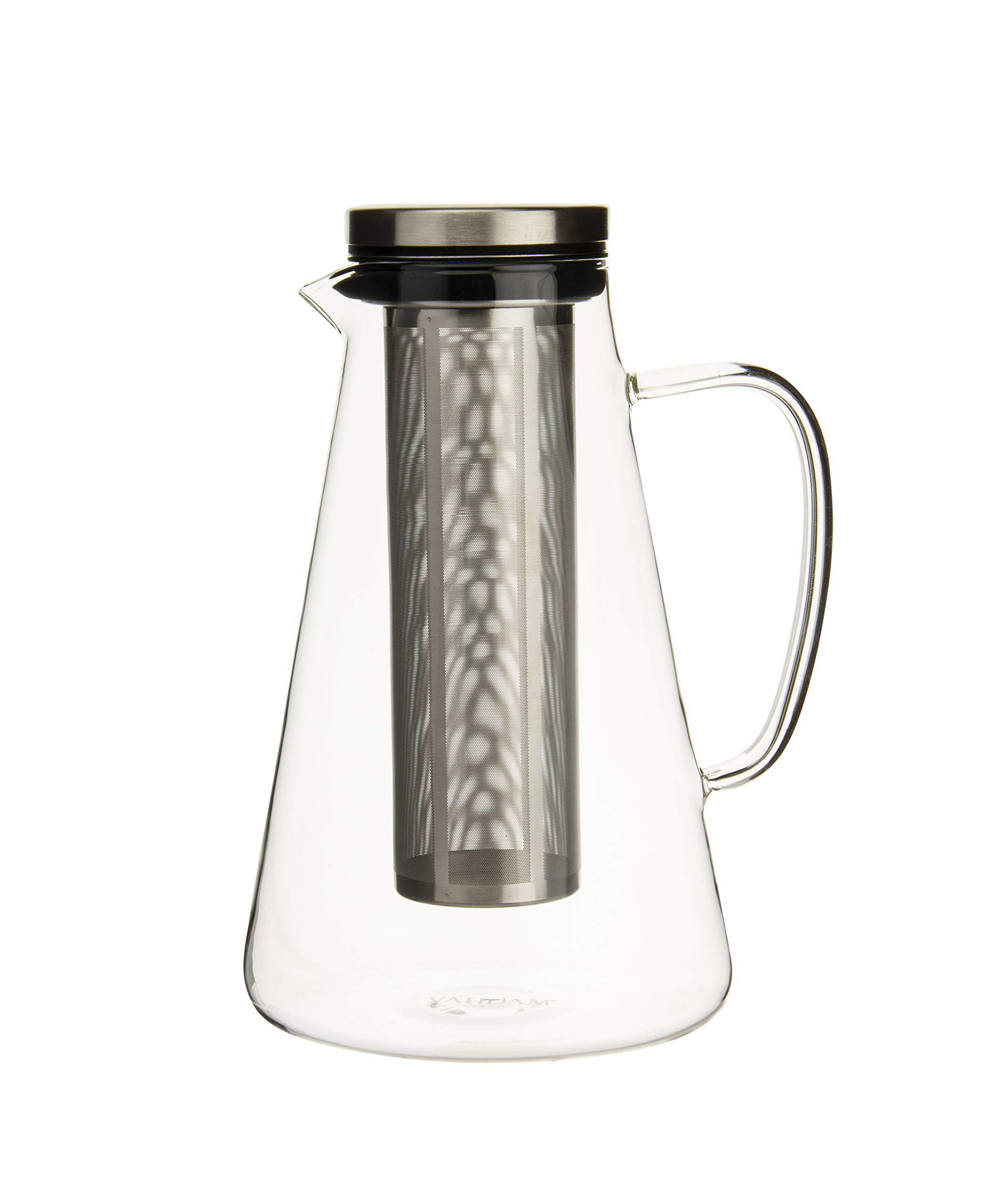 VAHDAM, Ice Tea Pitcher with Lid, 50.7 oz | 100% Safe, Scratch Resistant, Microwave Safe & Heat-Resistant | Iced Tea Pitcher | Borosilicate Glass Pitcher with Lid | Iced Tea Maker | Infuser Pitcher