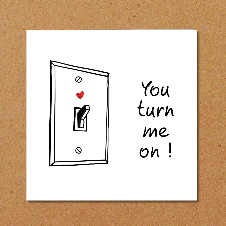 Rude anniversaire Card Funny anniversary boyfriend LBGT Valentine Day Naughty