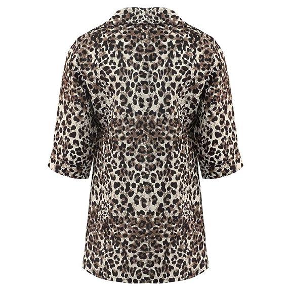Linlink Abrigo de Mujer LiquidacióN Temporada De OtoñO E Invierno Leopardo De La ImpresióN Sexy Leopardo De La Moda Cardigan Blusa De Outwear: Amazon.es: ...