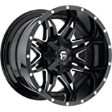 Fuel Lethal 15 Black Wheel / Rim 5x4.5 & 5x4.75 with a -43mm Offset and a 72.6 Hub Bore. Partnumber D56715000437