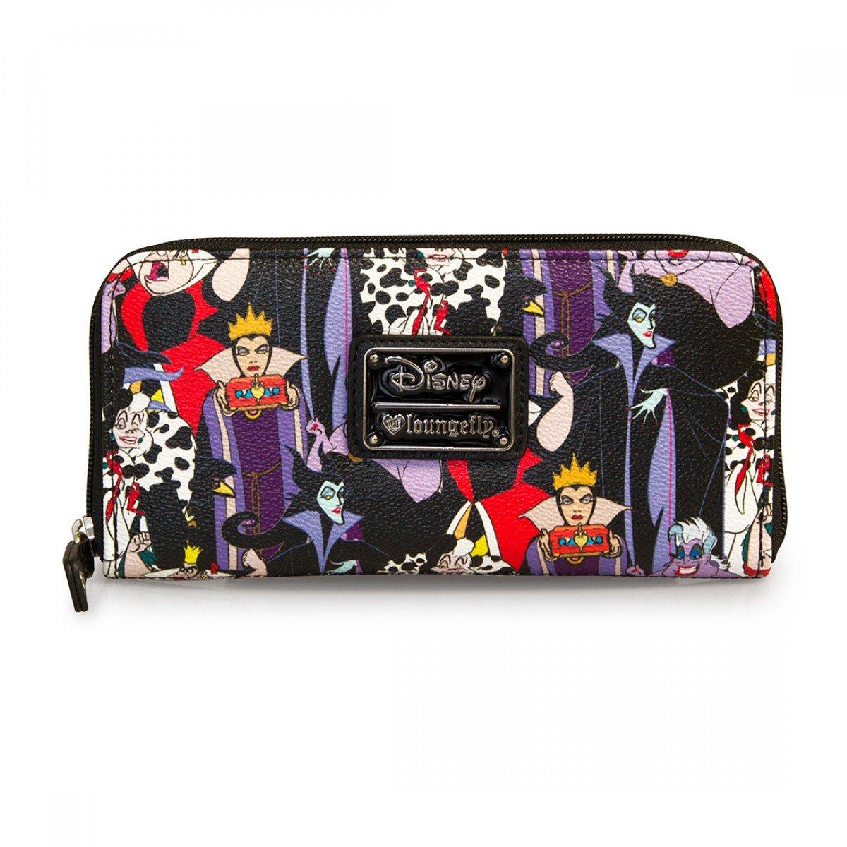 6123bbb5f5e Amazon.com  Disney Villains Zip Around Wallet Standard  Clothing