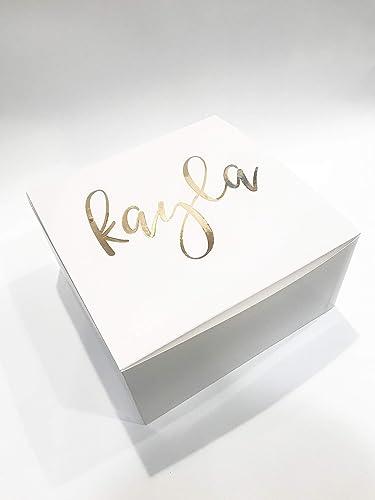 White Bridesmaid Proposal Box Bridesmaid Gift Maid Of Honor Gift Maid Of Honor Proposal Bachelorette Wedding Gift Bridal Party