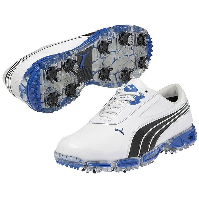 Puma Men s AMP Cell Fusion Golf Shoes - US 11.5 - White Black Blue ... 83849690c