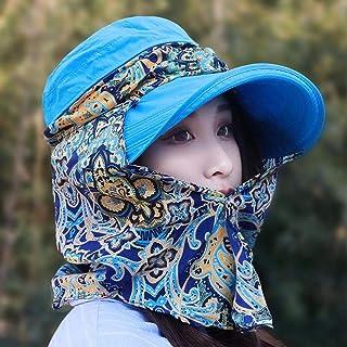 HUAIX Home L'elmetto Solare è Coperto dal Cappello da Sole e dal Cappello da Spiaggia all'aperto, Blu