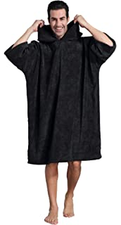 dcb320d6bb FLYILY Hooded Changing Robe Towel Poncho Light Weight Microfiber ...