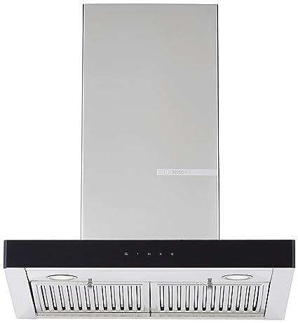 Bosch 60cm 800 m3/hr Chimney (DWB068G50I, 2 Baffle Filters, Touch Control, Steel/Grey)
