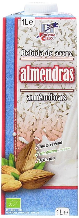La Finestra Sul Cielo Bebida Vegetal de Arroz con Almendras - Paquete de 6 x 1000 ml - Total: 6000 ml: Amazon.es: Alimentación y bebidas
