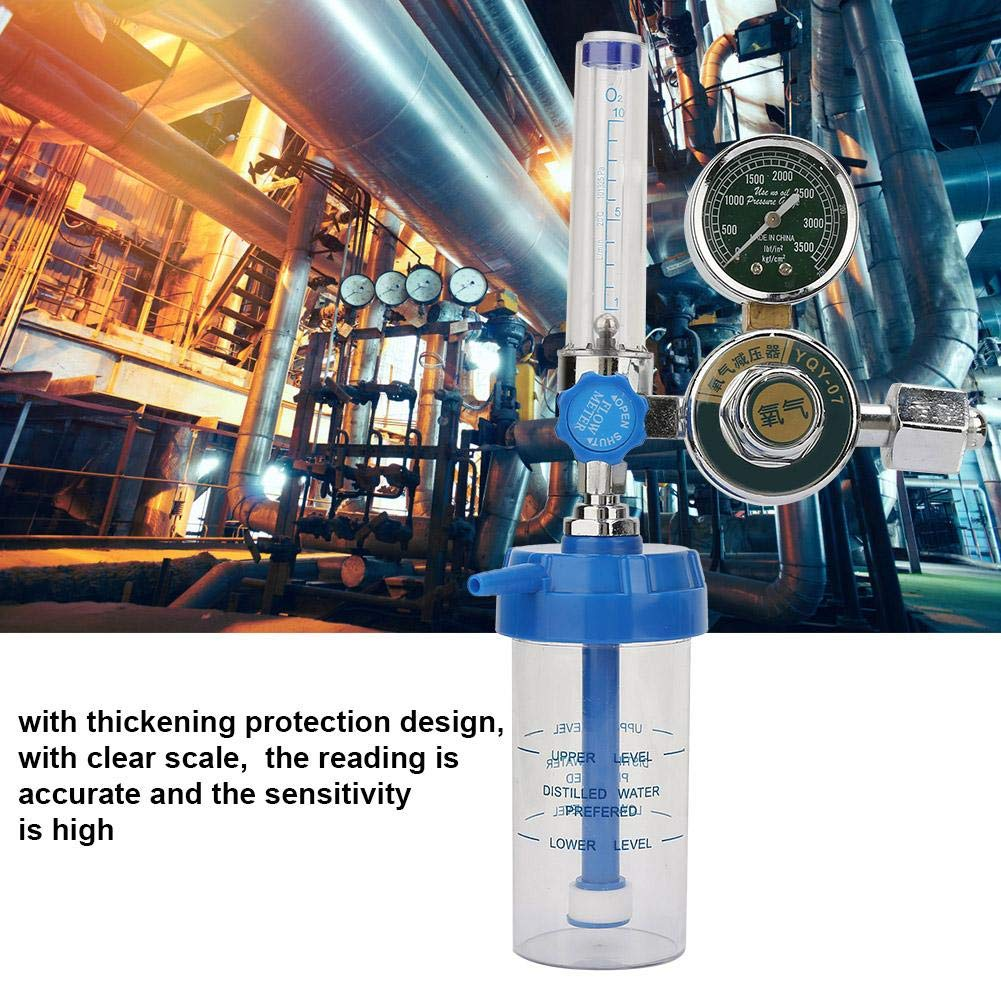 0-100mpa Air Flow Regulator Aluminum Alloy Flow Meter Pressure Reducer Flow Gauge Gas Regulator Professional Oxygen Gas Pressure Reducer Gauge Meter for Air Tools Oxygen Pressure Regulator