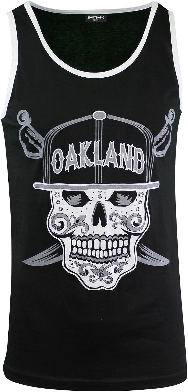 Mens Day of The Dead Sugar Skull Oakland California Mens Tank Top Shirt