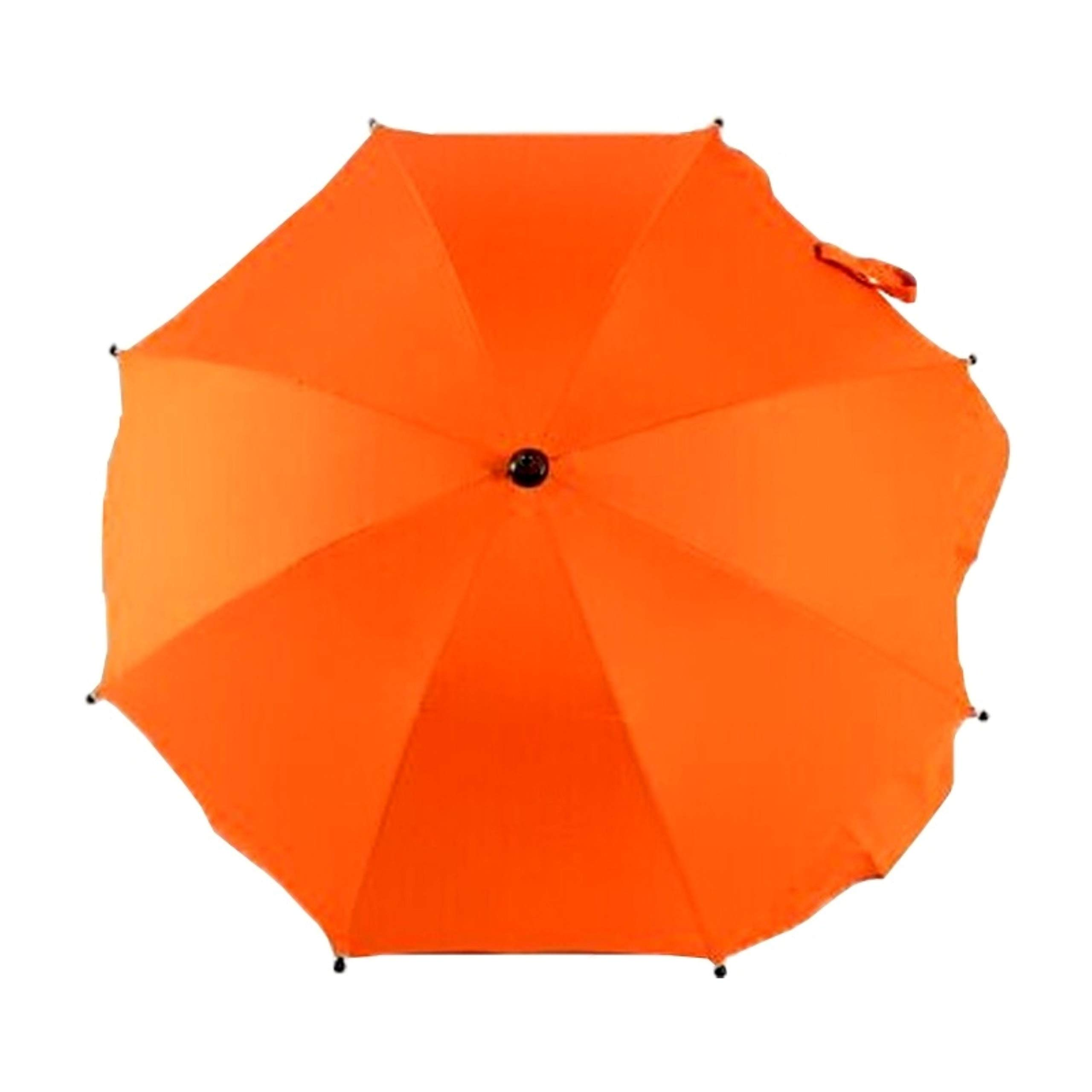 Adjustable Umbrella for Golf Carts, Baby Strollers/Prams and Wheelchairs to Provide Protection from Rain and The Sun(Orange Light)