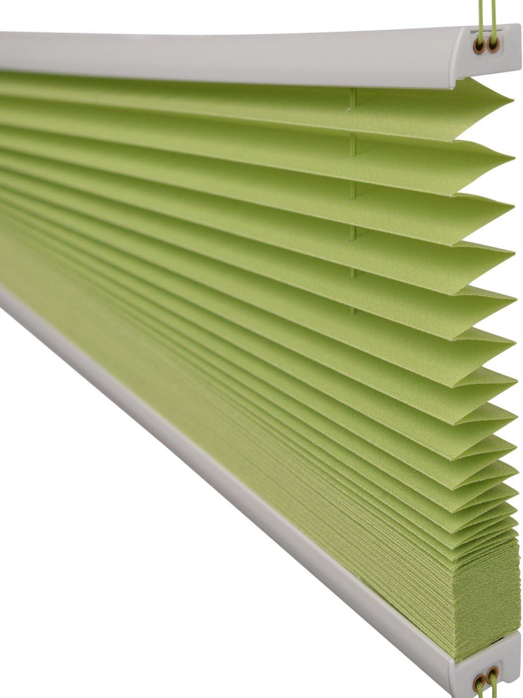 pour fenetre Vert Store Droit pliss/é SolDecor P25-65x100 cm Montage Simple avec Clips sans percage