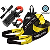 motormic Tow Strap Recovery Kit – 3' x 30ft (30,000 lbs.) Rope + 2' Shackle Hitch Receiver + 5/8' Locking Pin + 3/4' D…