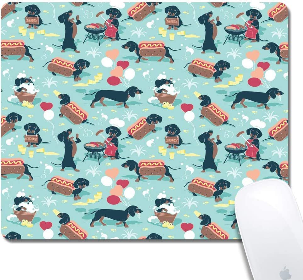 Gaming Mouse Pad - Thick Keyboard Mouse Mat Non-Slip Rubber Base Mousepad Rectangle 240x200x3mm Mouse Pad Custome Design Mouse Pad(Dachshund)