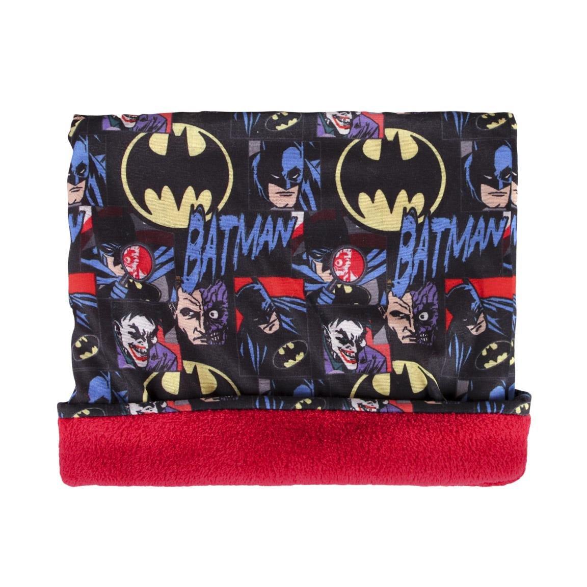 takestop/® Scaldacollo Sciarpa Multiuso Batman Joker DC Comics Felpato Bandana Fascia Cappello Cartone Animato Bambino Bambina Idea Regalo Invernale