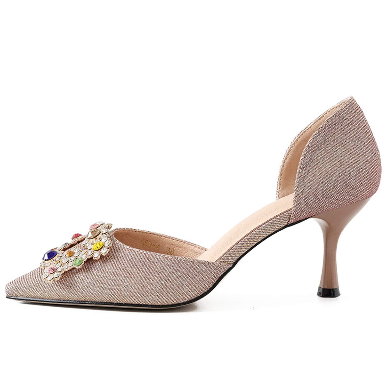 LBTSQ-High Heels 6cm Wild Scharf Sexy Braut Hochzeit Schuhe Mode.