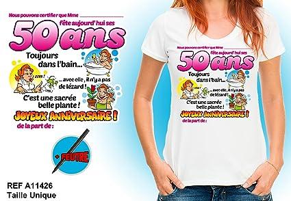 Camiseta cumpleaños - 50 años mujer: Amazon.es: Salud y ...