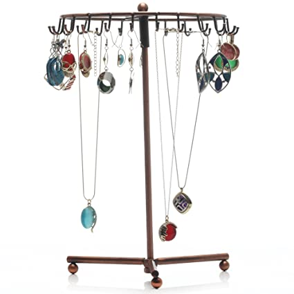 Amazoncom Readaeer Rotating Jewelry Holder Stand Display Organizer