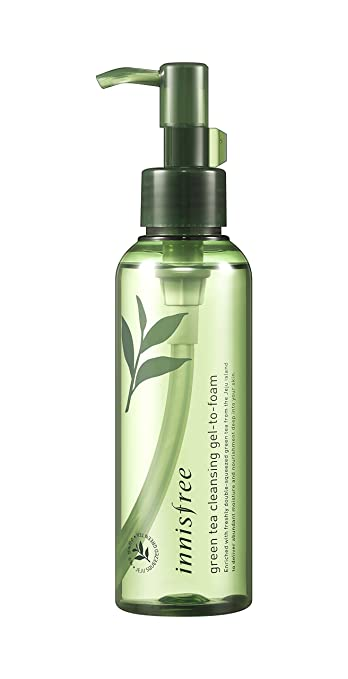 1955089bfaf Image Unavailable. Image not available for. Color   Innisfree  Green Tea  Cleansing Gel-To-Foam 150ml  quot  2018 New