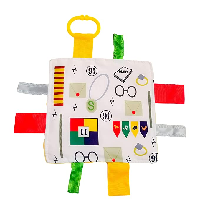 Lovey Chew Blanket Crinkle Toy Tag Square Sensory by Baby Jack (Wizard)