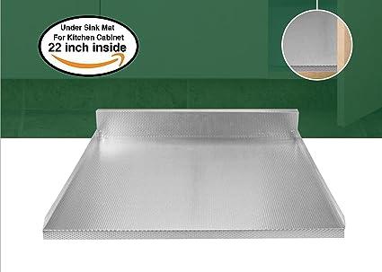 Under Sink Mat (22 X 18.7 Inch) Heavy Duty Long Lasting Aluminium  Protection Anti