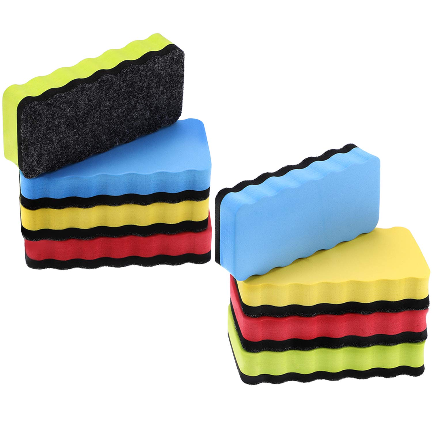 Boao 8 Pieces Magnetic Eraser Whiteboard Eraser Magnetic Dry Erase Eraser for Classroom Office Home Using, 4.1 x 2 x 0.8 inch