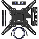 """HeraclesMount TV Wall Mount Bracket for most 22""""-55"""" LED LCD Plasma Flat Screen Monitor VESA 400x400mm with Full Motion Swivel Articulating 50cm Extension Arm, HDMI Cable ,Cable Ties & Bubble Level"""
