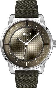 HUGO Reloj Analógico para Unisex Adulto de Cuarzo con Correa en Cuero 1530101