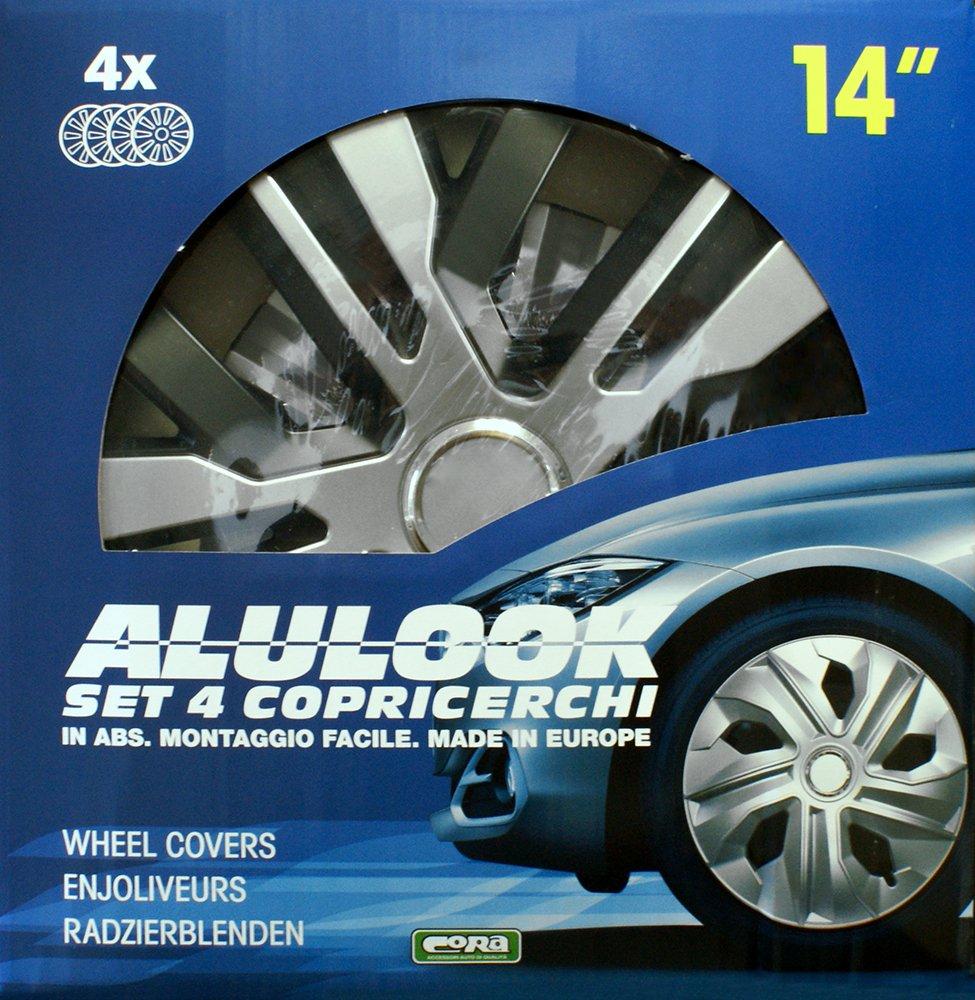 38,1/cm Cora 41445 Box 4 Alulook Raven Mix Enjoliveurs 15 pouces