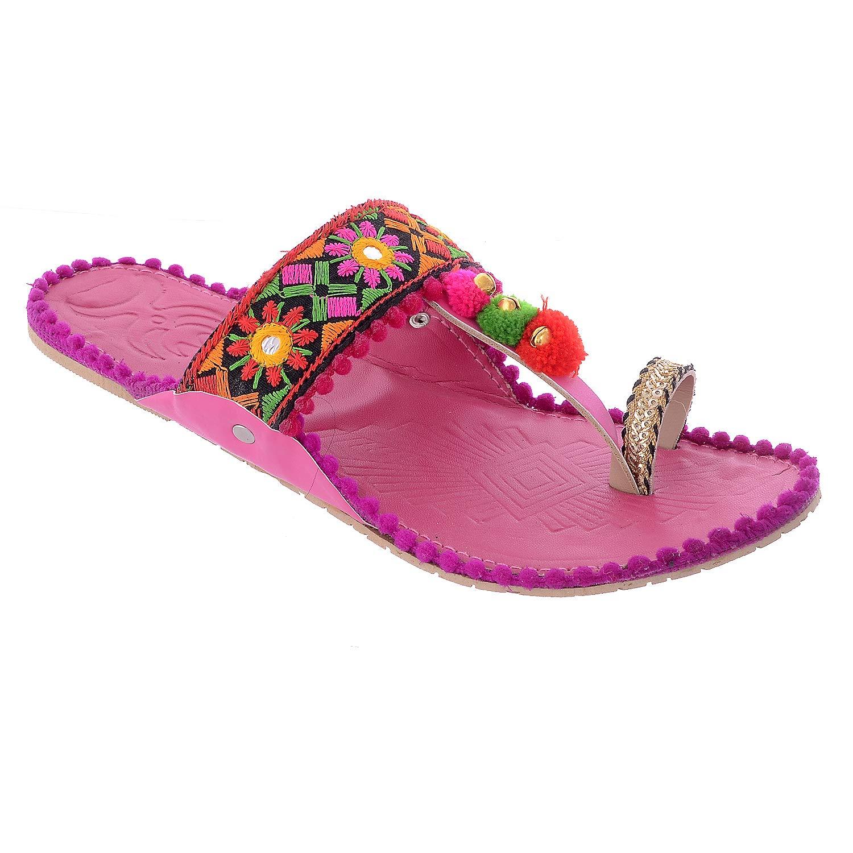 Buy Flyrra Pink Color Kolhapuri Chappal