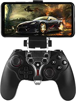 HWZDQLK PS3 Android Wireless Controller, Bluetooth Gamepad Controller Joystick con Soporte Ajustable for Android Smartphone PS3 Windows PC: Amazon.es: Electrónica