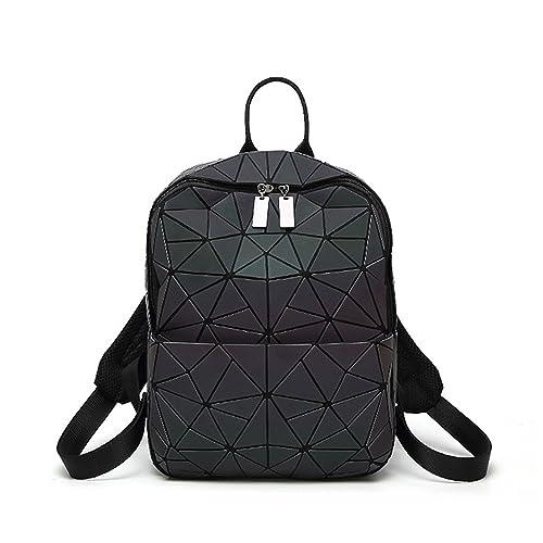 Pajamasea New Women Backpack Geometric Shoulder Bag Student S School Bag  For Teenage Hologram Luminous Backpacks Laser 910e948b001bb