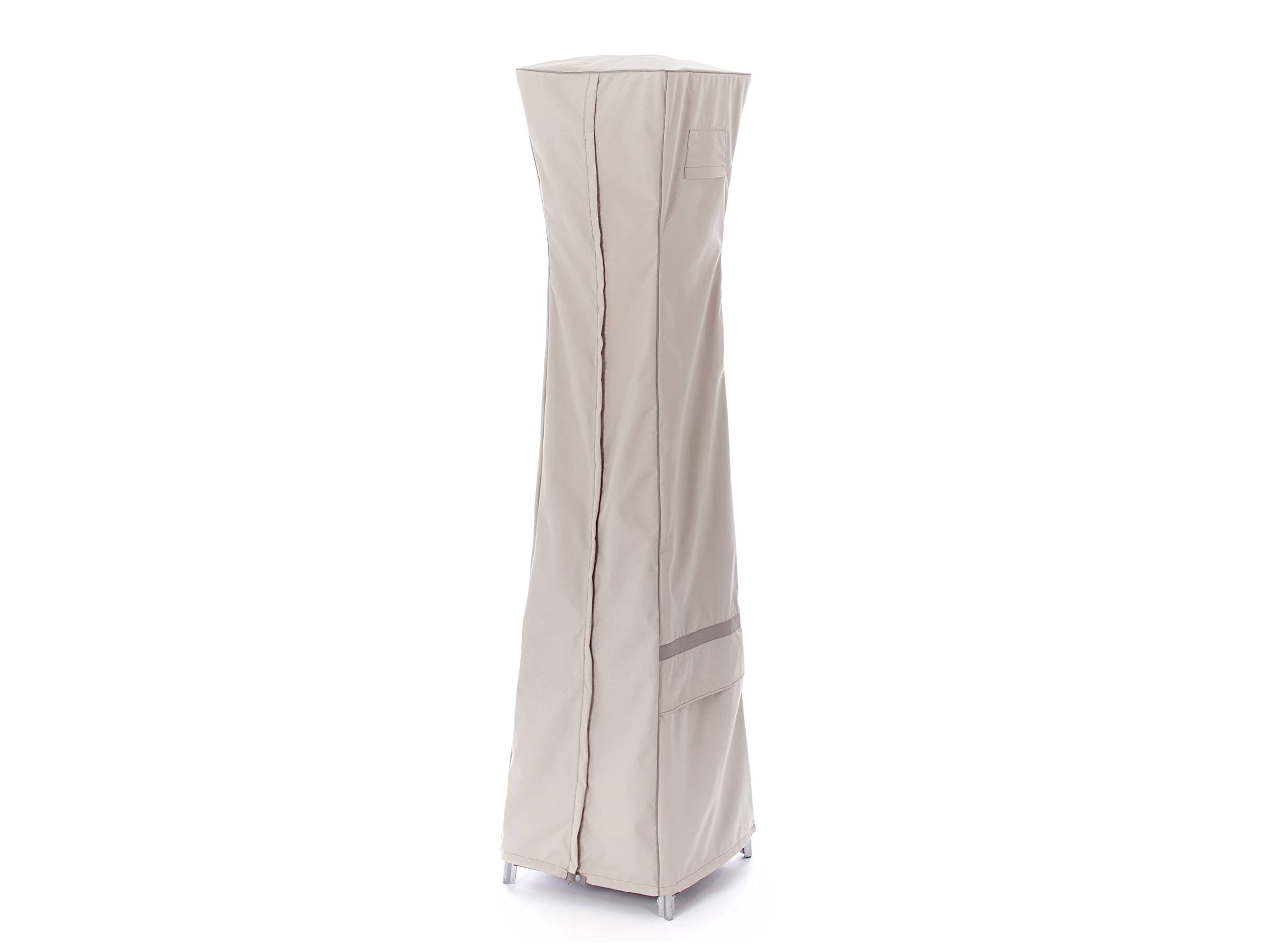CoverMates – Square Patio Heater Cover – 18W x 87H – Prestige Collection – 7 YR Warranty – Year Around Protection - Stone