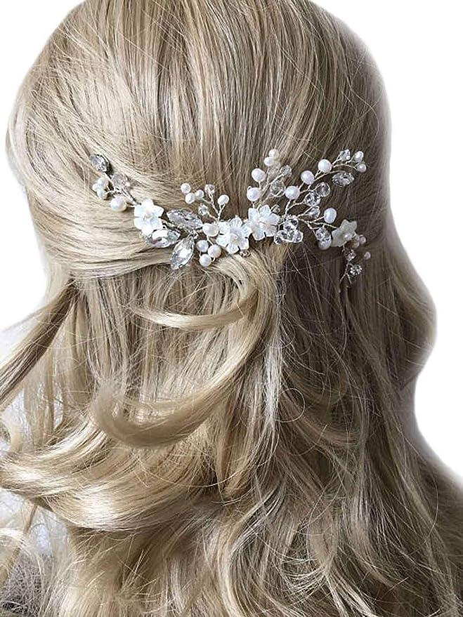 Wedding Flower Accessory Decorative Comb Bridal Floral Comb Wedding Lifelike Flower Comb Wedding Hair Accessory Bridesmaids Floral Hair Comb
