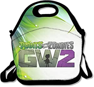 Pvz Garden Warfare 2 Insulated Lunch Bag/Backpack/Tote With Zipper, Carry Handle And Shoulder Strap For Adults Or Kids