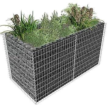 Wt Trade Premium Steinkorb Gabione Pflanzenkorb Aus Verzinktem Stahl