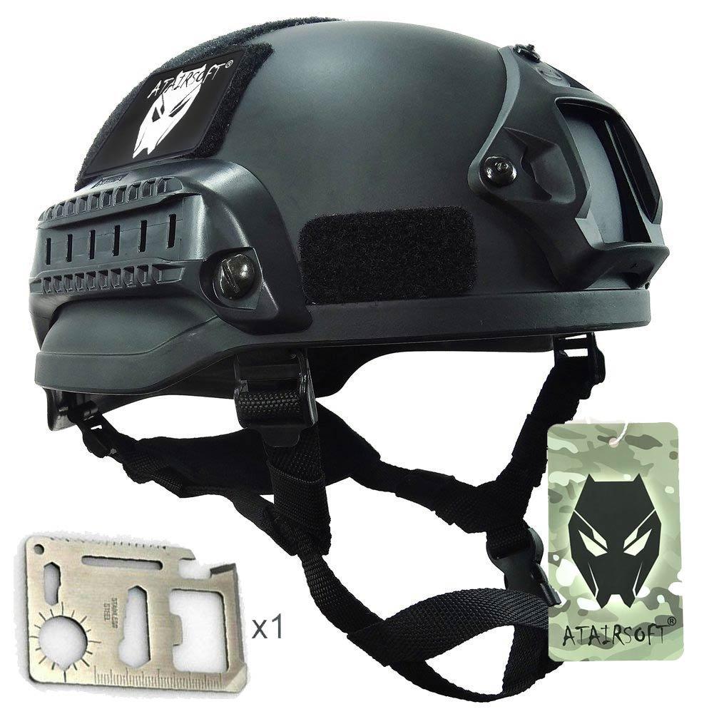 MICH 2002combatir casco protector con carril lateral y montaje NVG negro para Airsoft táctico militar Paintball caza WorldShopping4U