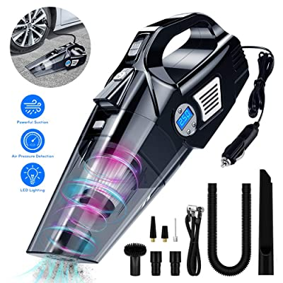 Car Vacuum Cleaner, Handheld 12V Strong Suction Mini Portable Car Interior Cleanner, Auto Car Vacuums with 15 ft Power Cord: Home & Kitchen