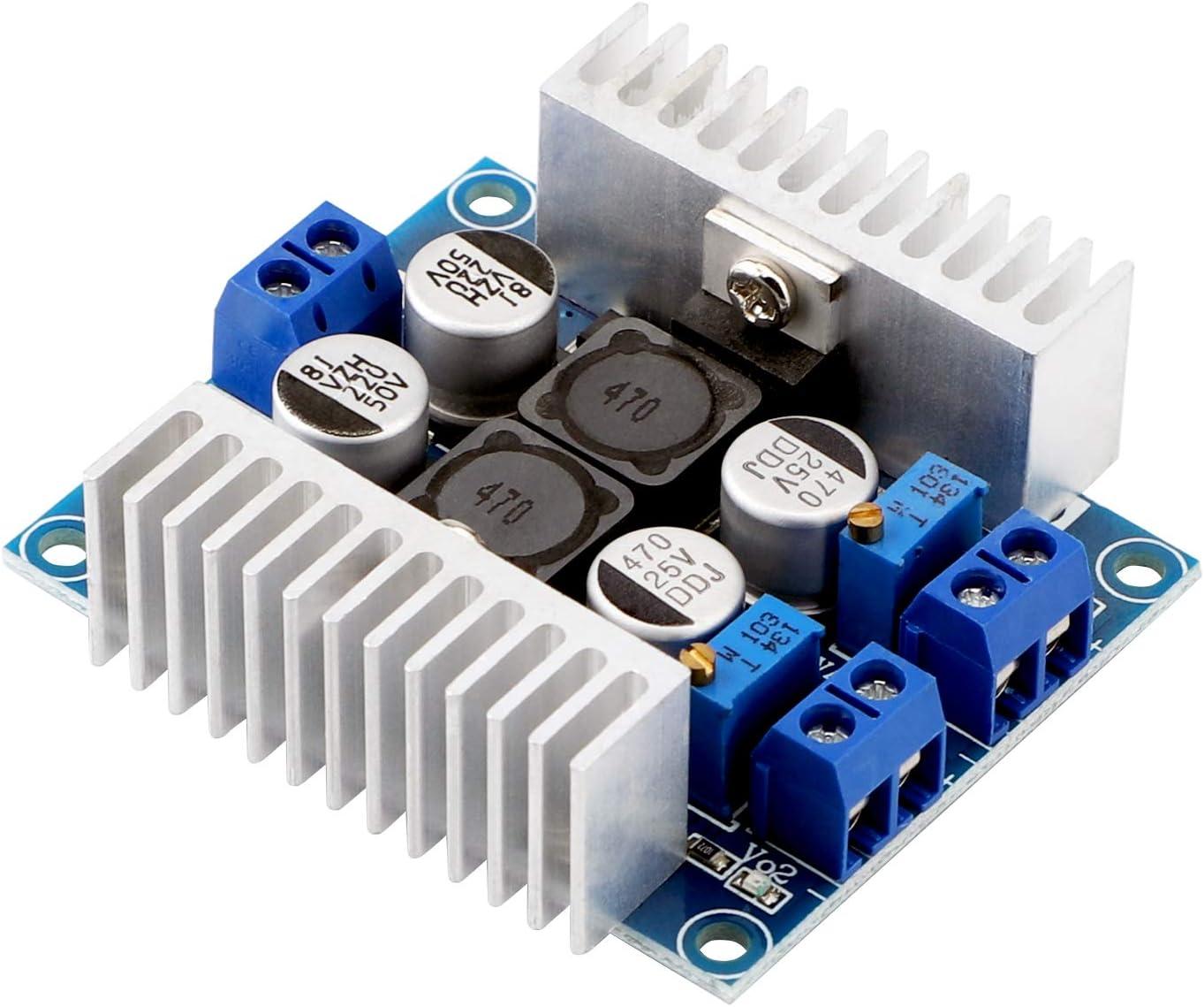 Dual Output Adjustable Buck Converter DROK LM2596 DC 5V-40V to DC ...