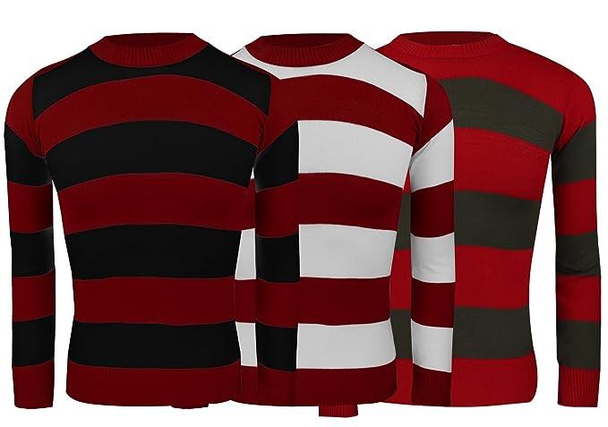 Children Freddy Dennis Red White Striped Knitted Jumper Sweater