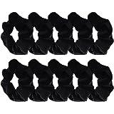 Frcolor Pack Hair Elastics Scrunchie Hair Bobbles Hair Bands Black